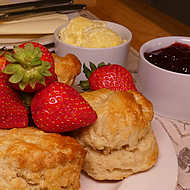 A scrumptious cream tea awaits on your arrival