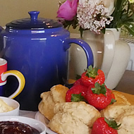 A delicious cream tea on arrival