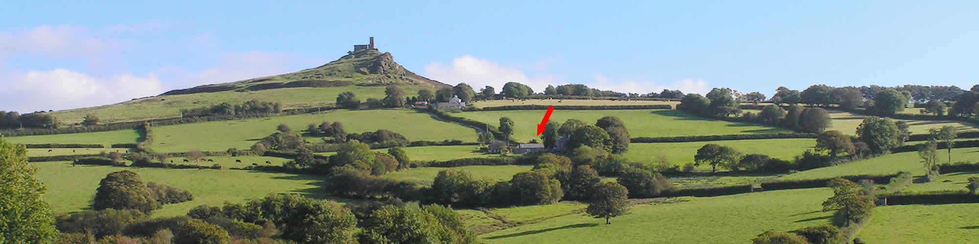 A peaceful and quiet location near Brentor Church on the edge Dartmoor, Devon