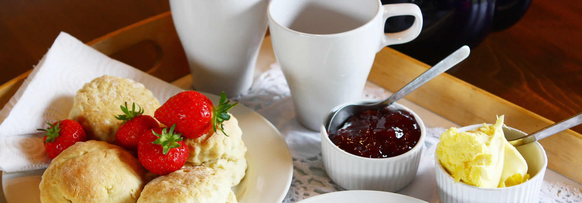 Enjoy a traditional Devon Cream Tea