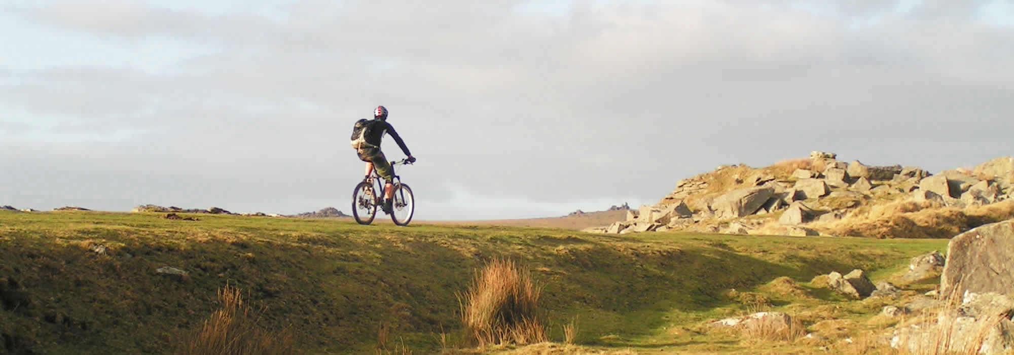Cyclist on Dartmoor